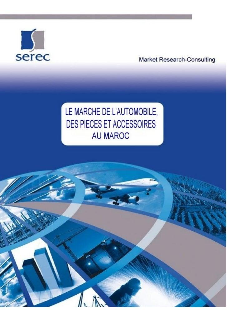 Serec/S7/sommaire               LE MARCHE DE L'AUTOMOBILE,                DES PIECES ET ACCESSOIRES                       ...