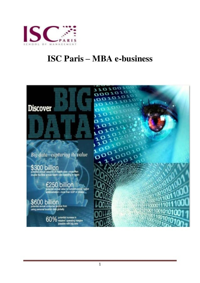 ISC Paris – MBA e-business            1