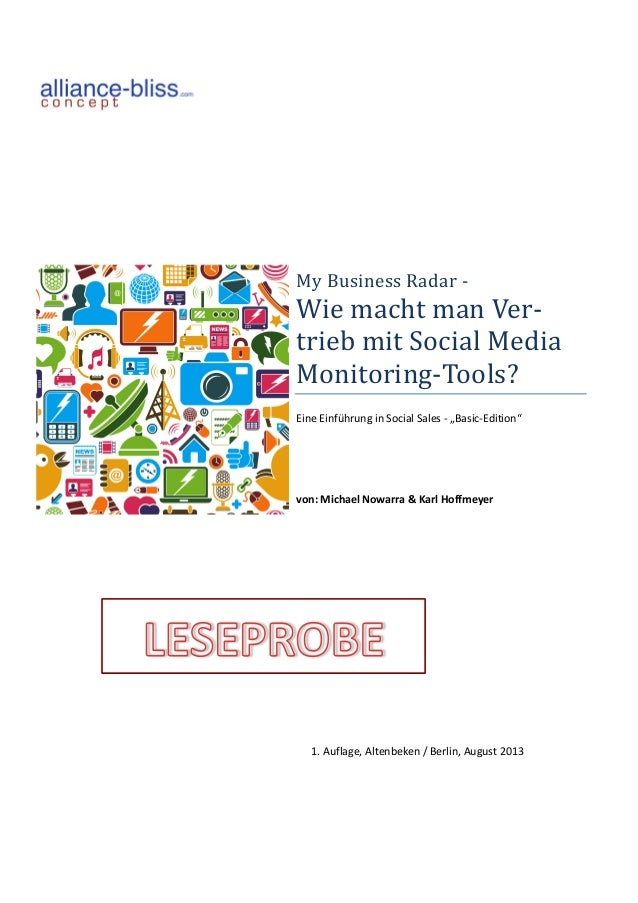 My	   Business	   Radar	   -­‐	   	    Wie	   macht	   man	   Ver-­‐ trieb	   mit	   Social	   Media	    ...