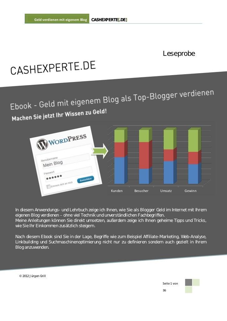 Geld verdienen mit eigenem Blog   CASHEXPERTE[.DE]                                                                        ...