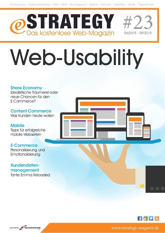 E-Commerce // Onlinemarketing // SEO // SEM // Development // Mobile // Technik // Usability // Recht // Tipps&Tools #2306...