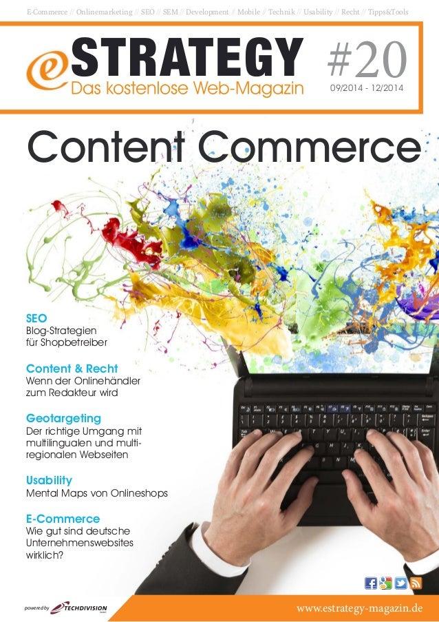 E-Commerce // Onlinemarketing // SEO // SEM // Development // Mobile // Technik // Usability // Recht // Tipps&Tools  #20 ...