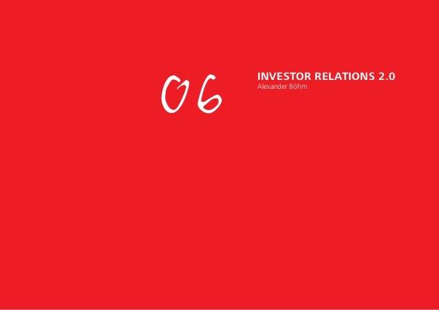 06 Investor Relations 2.0 Alexander Böhm