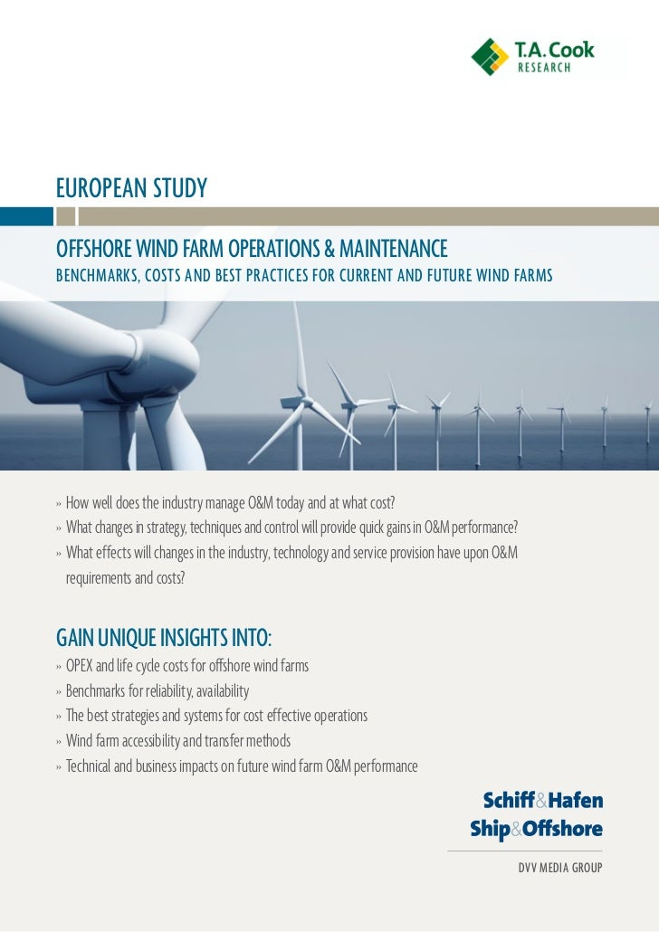 Extract | T.A. Cook Offshore Wind Maintenance Study