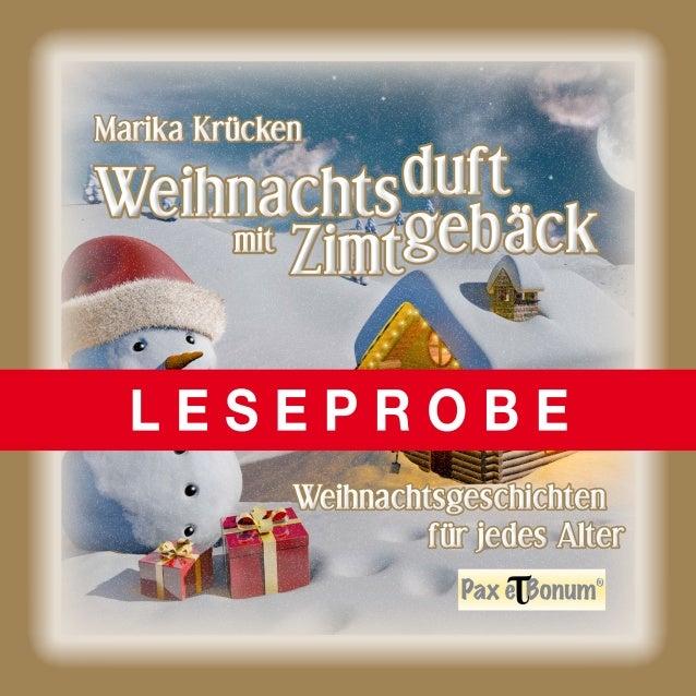 """Leseprobe Buch: """"Weihnachtsduft mit Zimtgebäck"""" bei Pax et Bonum Verlag Berlin"""