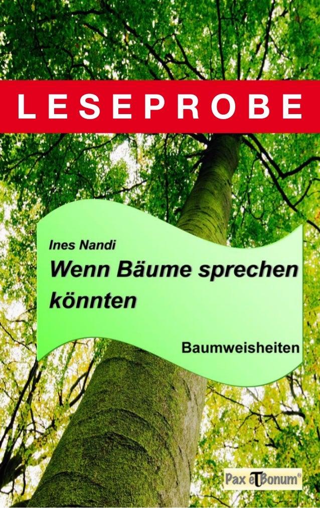 """Ines Nandi   Wenn Baume sprechen  1'1.'  '-: fi', , _' :1: 3.' , ,_x ' I """"_' _ s A  HQHN @W W» ' ' ' L I  u I u         Bau..."""