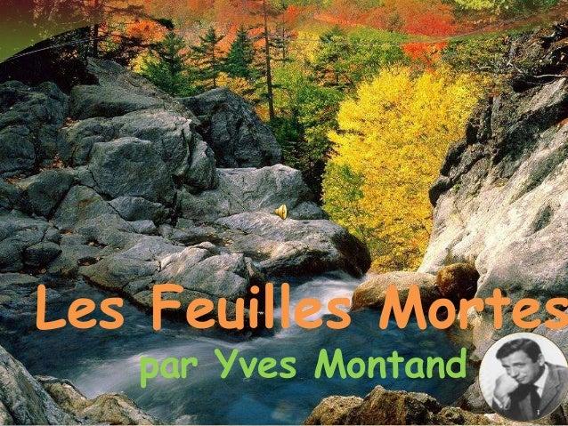 Les Feuilles Mortes   par Yves Montand                      1