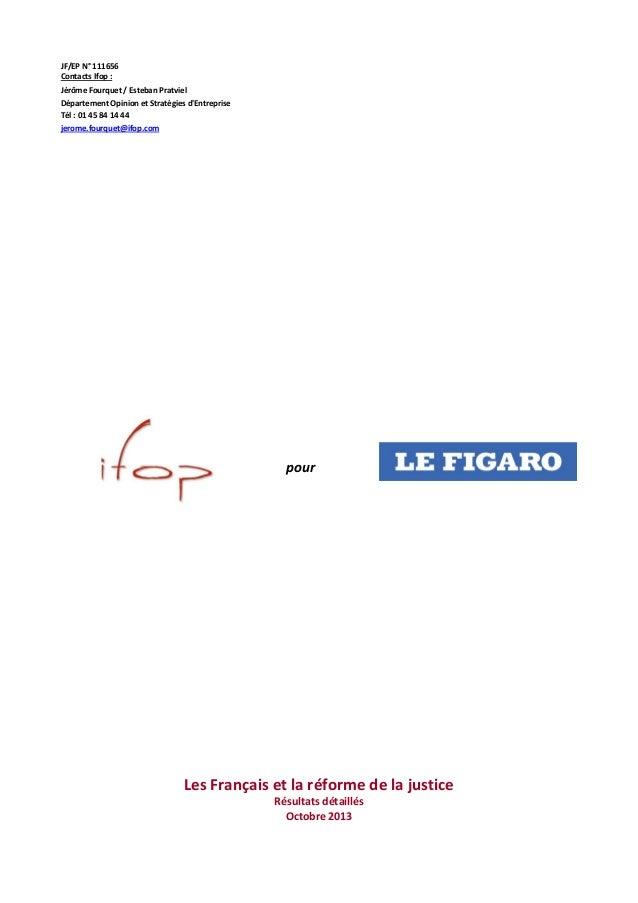 JF/EP N° 111656 Contacts Ifop : Jérôme Fourquet / Esteban Pratviel Département Opinion et Stratégies d'Entreprise Tél : 01...