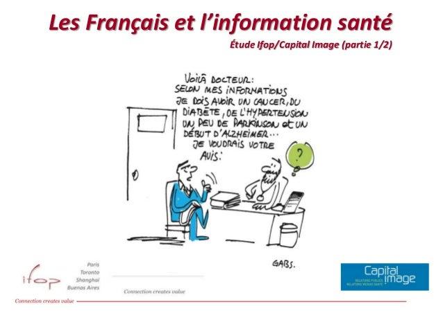 Les Français et l'information santé Les Français et l'information santé, Etude Ifop / Capital Image  Étude Ifop/Capital Im...