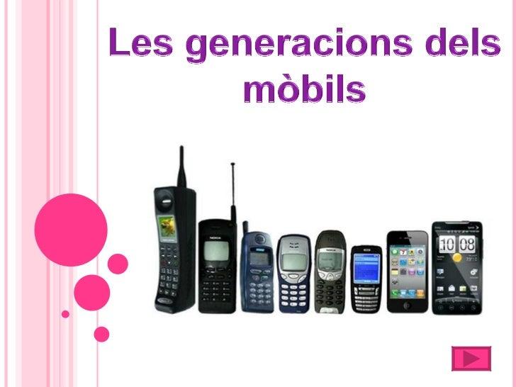 1.Primera generació2.Segona generació3.Tercera generació4.Quarta generació5.GSM6.Tecnologia WAP7.Tecnologia GPRS8.Tecnolog...