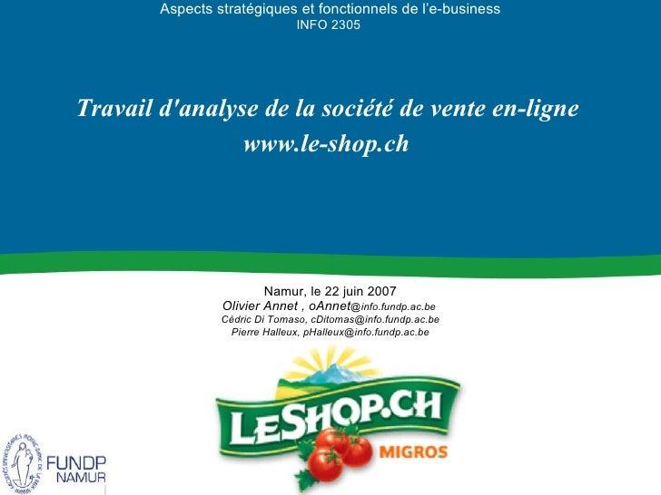 Le Shop.ch AnalyseBusiness