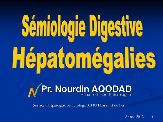 Service d'hépatogastroentérologie; CHU Hassan II de Fès                                                          Année 201...