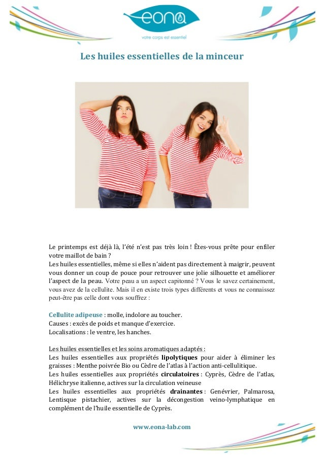 www.eona-‐lab.com      Les  huiles  essentielles  de  la  minceur                  Le  prin...