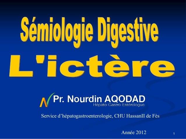Service d'hépatogastroenterologie, CHU HassanII de Fès                                    Année 2012           1