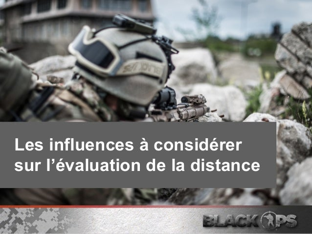 Les influences à considérer sur l'évaluation de la distance