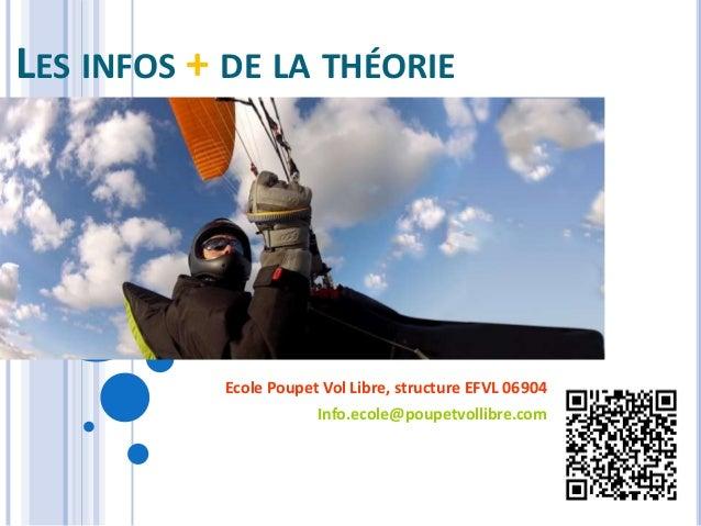 LES INFOS + DE LA THÉORIEEcole Poupet Vol Libre, structure EFVL 06904Info.ecole@poupetvollibre.com