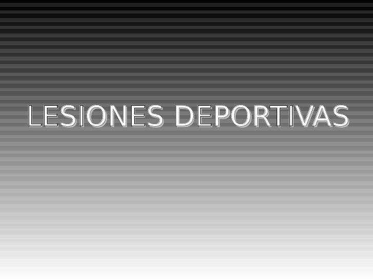 Lesiones Deportivas (Mark)