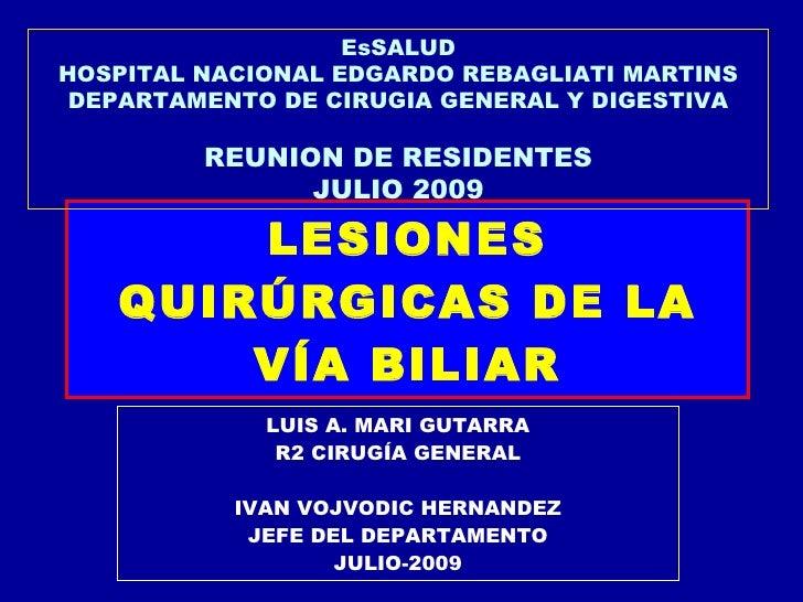 EsSALUD HOSPITAL NACIONAL EDGARDO REBAGLIATI MARTINS  DEPARTAMENTO DE CIRUGIA GENERAL Y DIGESTIVA           REUNION DE RES...