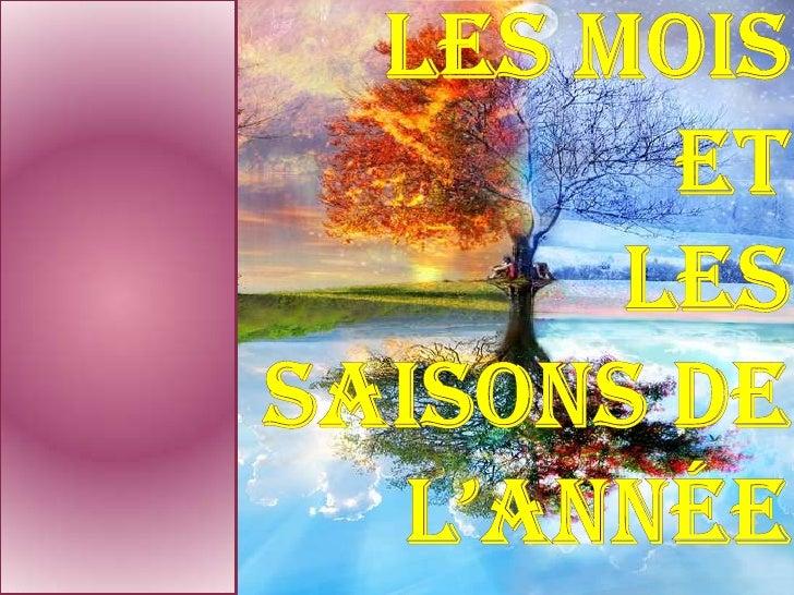 Les Jours, Les MoisEt Les Saisons De L'annÉe<br />