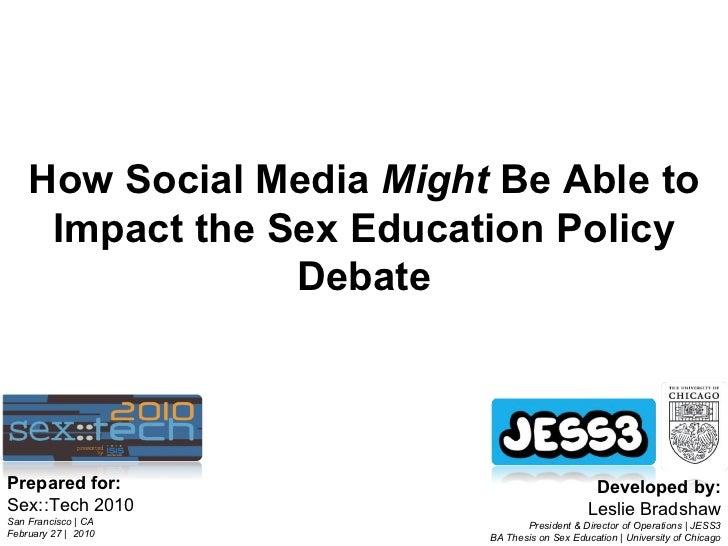 How Social Media Might Impact the Sex Education Debate