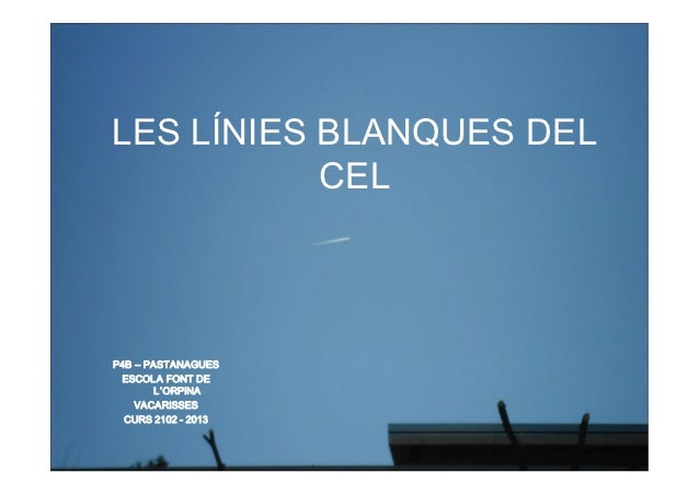 Les línies blanques del cel pastanagues