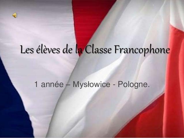 Les élèves de la Classe Francophone 1 année – Mysłowice - Pologne.