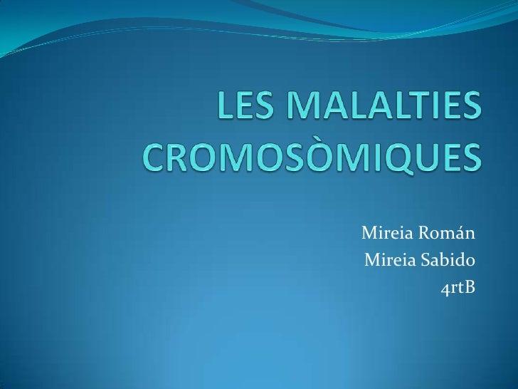 Les malalties cromosòmiques