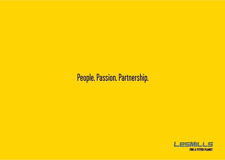 Les Mills - People, Passion, Partnership