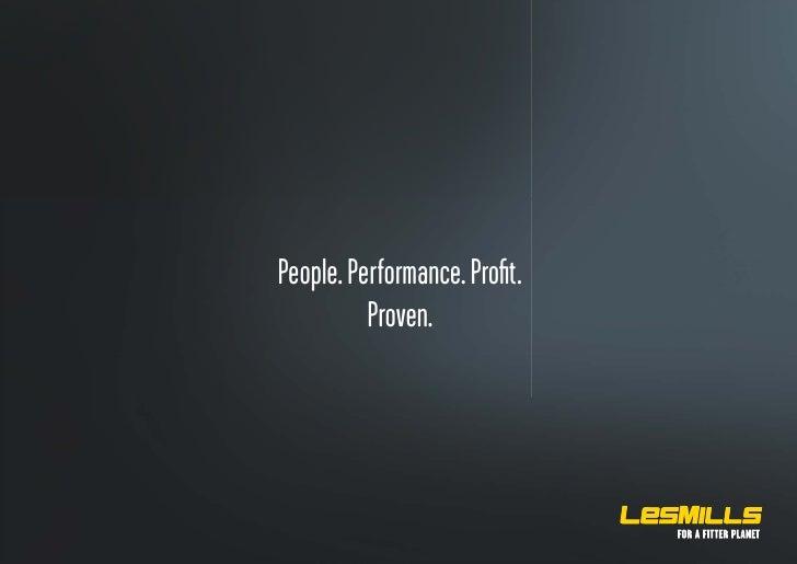 Les Mills - People, Performance, Profit, Proven,