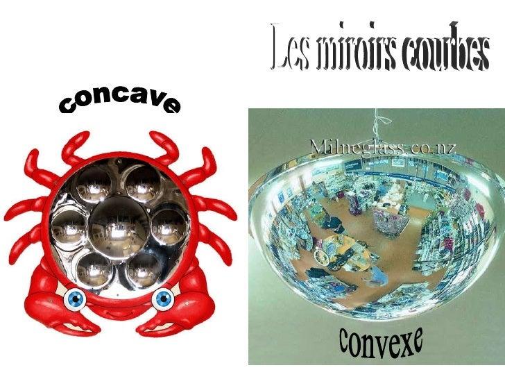 concave convexe Les miroirs courbes