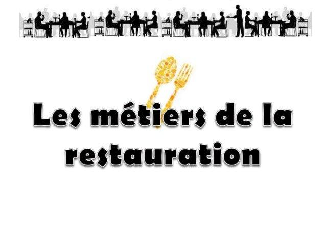Directeur de Restaurant : il supervise le travail en cuisine en relation avec le chef, organise le travail en salle, assur...