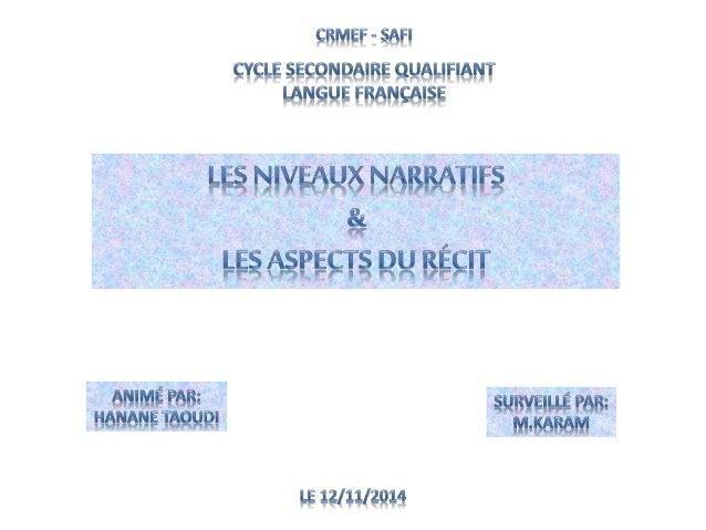 Comme l'a bien montré Gérard Genette dans son essai Figures III, l'approche  narratologique des oeuvres littéraires s'insc...