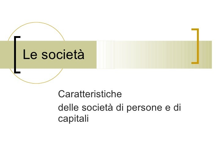 Le Società