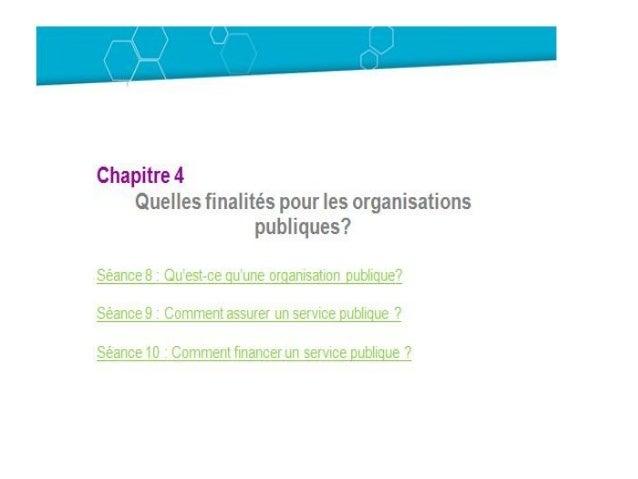 Les Organisations Publiques et les Organisations à But Non Lucratif