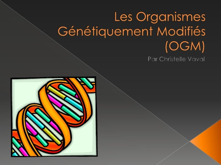 Les OrganismesGénétiquementModifiés (OGM)<br />Par ChristelleVaval<br />