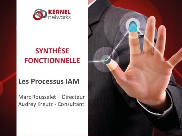 SYNTHÈSE FONCTIONNELLE Les Processus IAM Marc Rousselet – Directeur Audrey Kreutz - Consultant