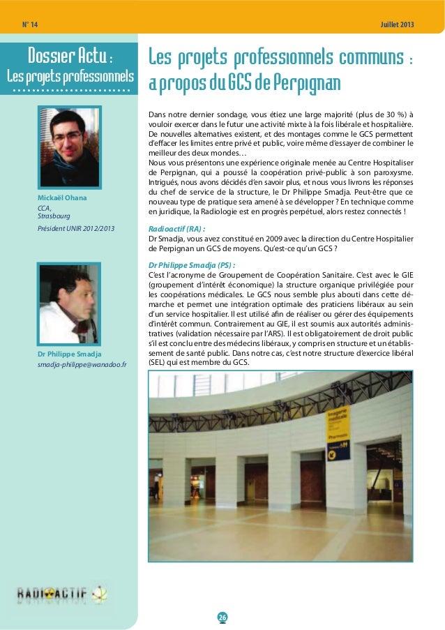 N° 14 26 Juillet 2013 Les projets professionnels communs : aproposduGCSdePerpignan Dans notre dernier sondage, vous étiez ...