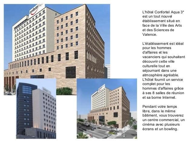 Lhôtel Confortel Aqua 3*est un tout nouvelétablissement situé enface de la Ville des Artset des Sciences deValence.Létabli...
