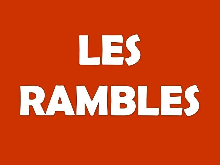 LES RAMBLES<br />