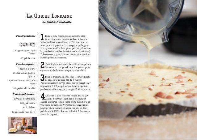 Les recettes de laurent mariotte avec le vitamix pro 750 - Toutes les recettes de laurent mariotte ...