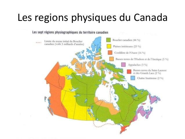 Les regions physiques du Canada