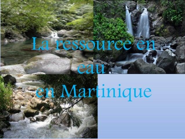 La ressource en eau en Martinique