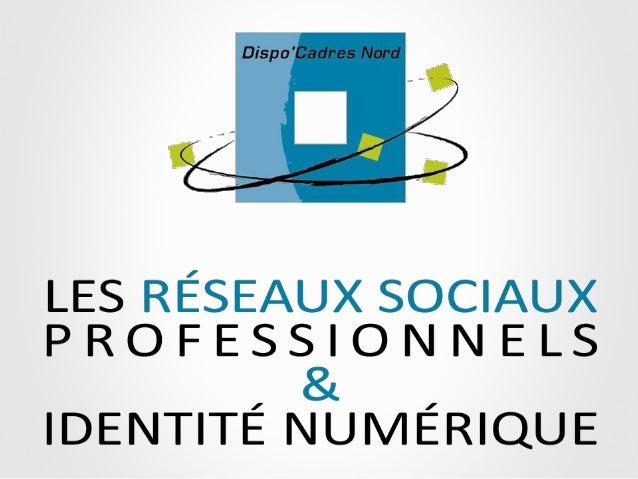 Les réseaux sociaux professionnels et l'identité numérique - Dispo cadres - sept 2013