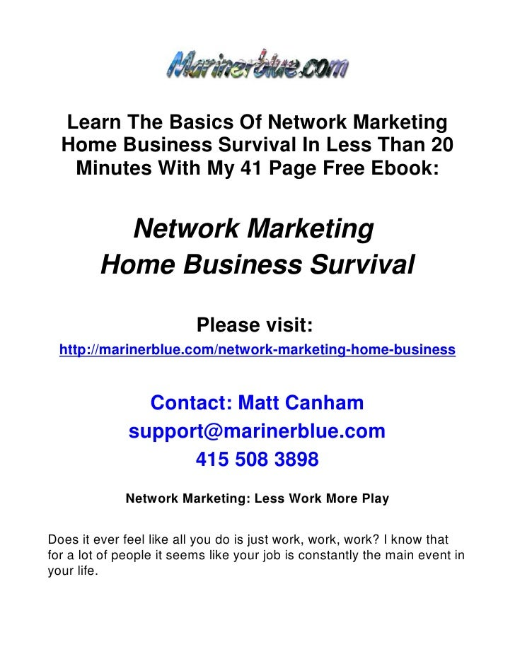 Network Marketing: Less Work More Play