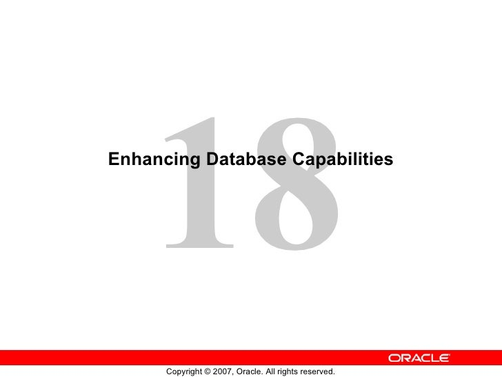Enhancing Database Capabilities