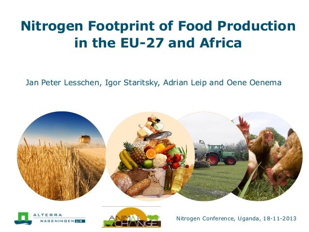 Nitrogen Footprint of Food Production in the EU-27 and Africa Jan Peter Lesschen, Igor Staritsky, Adrian Leip and Oene Oen...