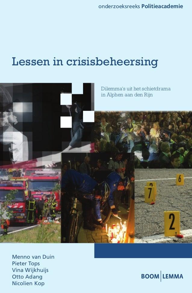 Lessen in crisisbeheersing   alphen ad rijn