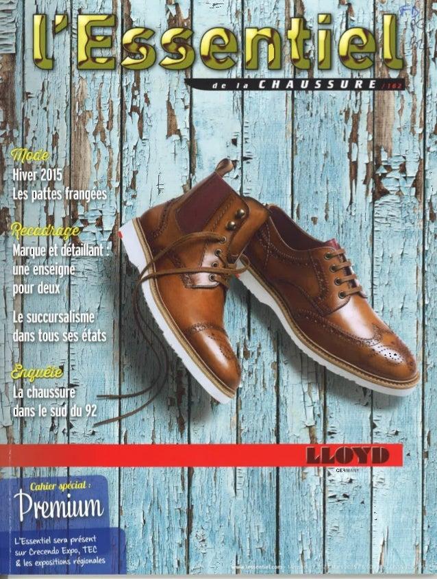 L'Essentiel de la Chaussure n°162 mars 2015 - Frank Boehly, président du Conseil National du Cuir