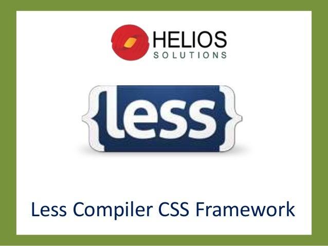 Less Compiler CSS Framework