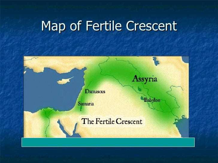 The Fertile Crescent Map Labeled Map of Fertile Crescent